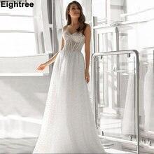 Бальное свадебное платье с блестками Тюлевое блестящее без бретелек