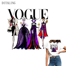 Queens Princess Patches For Clothing Fashion Girl Thermal Stickers On Clothes DIY T-Shirt Iron-On Transfers A-Level Custom Patch