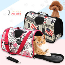 ThinBest Pet Carrier Pet Folding Tote Expandable Carrier Dog Cage For Cat Folding Travel Carry Bag Transport Dogs Pet Breathable недорого