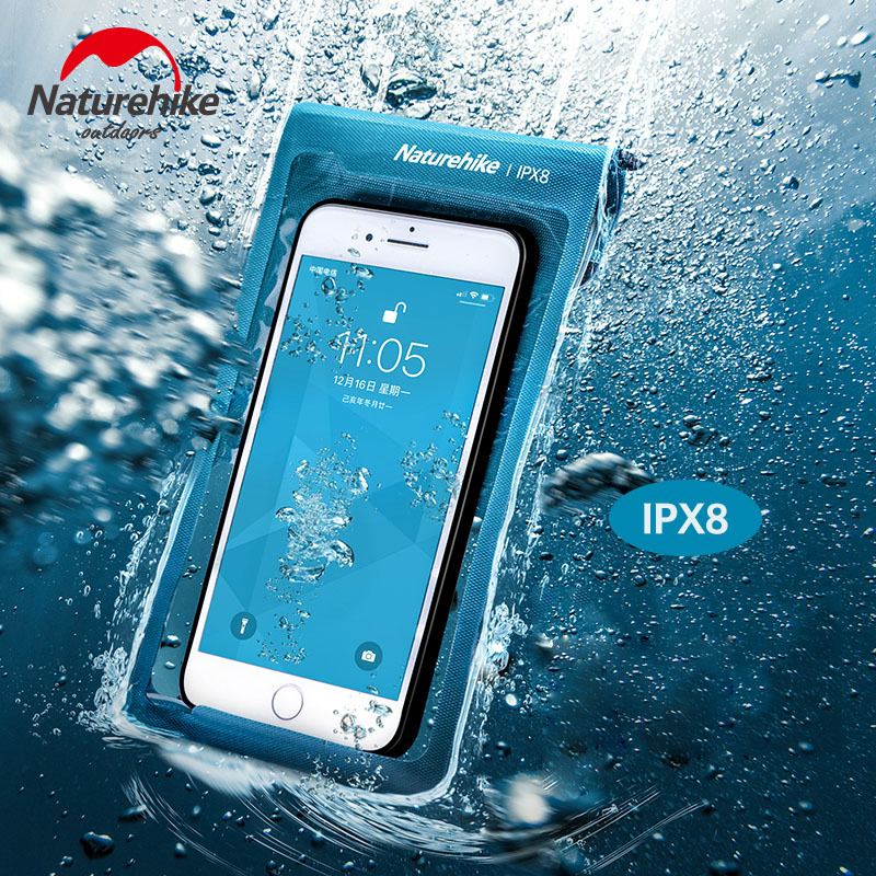 Naturehike IPX8 Mobile Phone Waterproof Bag TPU Waterproof Membrane Diving Waterproof Bag Phone Case For Under 7 Inches