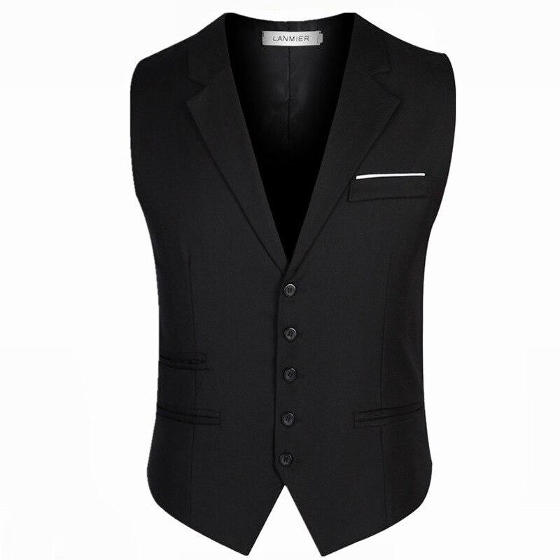 2019 nouveauté robe gilets pour hommes coupe ajustée hommes costume Gilet Homme Gilet Gilet Homme décontracté sans manches formel affaires veste
