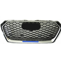 For RS5 Style Front Sport Hex Mesh Honeycomb Hood Grill Black for Audi A5/S5 B9 2017 2019 car accessories