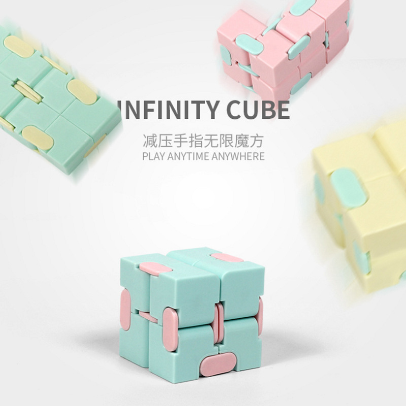 Infinite Cube Magic Cube Office Flip Cubic Puzzle Stress Reliever Folding Cubic Autism Relax Toy Adults Anti-stress Spinner Cube