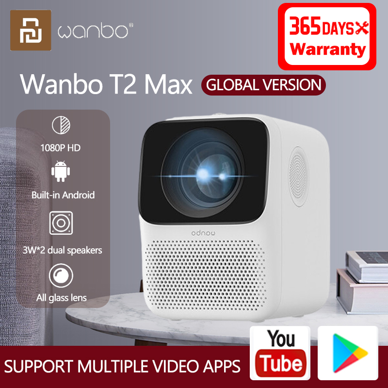 Xiaomi Global Version Wanbo T2 Max LCD Projector 1080P Vertical Correction Portable Home Theater Projector