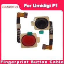 Original novo umi f1 impressão digital botão sensor cabo flexível para umidigi f1, f1 jogar telefone móvel