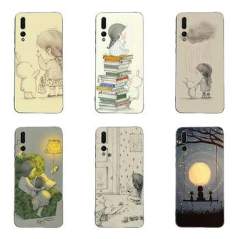 YNDFCNB Daydream girl and her rabbi Phone Case TPU Case For Huawei G7 G8 P7 P8 P9 P10 P20 P30 Lite Mini Pro P Smart Plus image