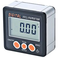 Digital Inclinometer 0 360 Angle Triangle ruler Electronic Protractor Aluminum Alloy Shell Box Angle Gauge Meter Magnets Base|  -