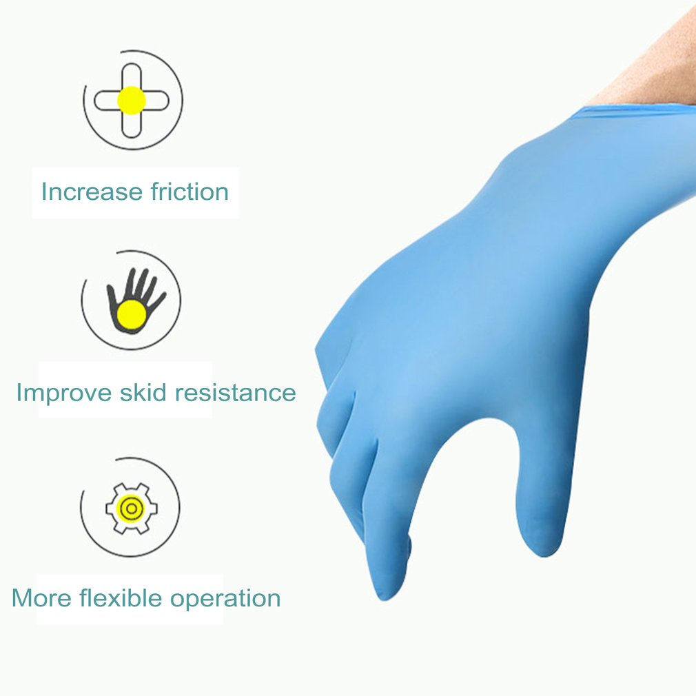 New In Stock Free Shipment Perfessional Elastic Vinyl Gloves 100Pcs Disposable Powders-Free Industrial Food Safety 3Mm Mittens