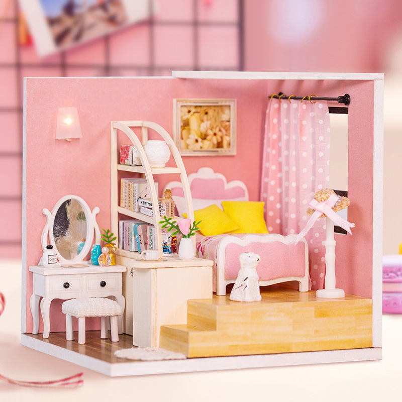 dollhouse gift for girl Barbie house doll house New Year a gift kids like time Barbie roombox room box for dolls Roombox handmade