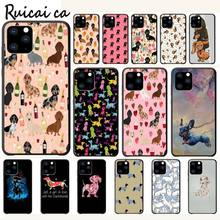 Dachshund Doxie Flower Dog Puppy Luxury Phone Case Funda For Iphone 5s Se 6 6s 7 8 Plus X Xs Max Xr 11 Pro Max Cases Cover kisscase natural wood bamboo phone cases for iphone x xs max xr cover plain phone cases for iphone 5 5s se 6 6s 7 8 plus funda