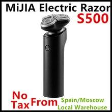 شاومي Mijia ماكينة حلاقة كهربائية S500 IPX7 مقاوم للماء الرجال الحلاقة اللحية المتقلب 3 رئيس الجاف الرطب المزدوج شفرة مريح نظيفة مع شاشة LED