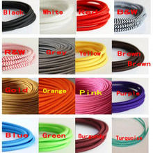Cabo de tecido torcido de cobre do fio elétrico do núcleo do vintage 2 cabo tecido 0.75mm * 2 cabo de têxteis lâmpada pingente edison iluminação fio