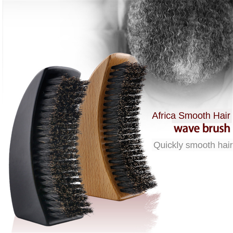 Razor Bristle Man Beard Comb Beard Brush Straight Hair Comb Oil Head Shape Wave Brush Curly Brush Men Shaving Brush G1222
