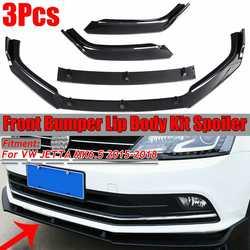 New Car Front Bumper Lip Splitter Lip Chin Bumper Diffuser Spoiler Body Kit Protection For VW JETTA MK6.5 2015 2016 2017 2018