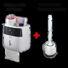 LEDFRE dispensadores de soportes de papel higiénico de pared, portarrollos de baño creativos, caja de pañuelos de papel doble, LF82003P