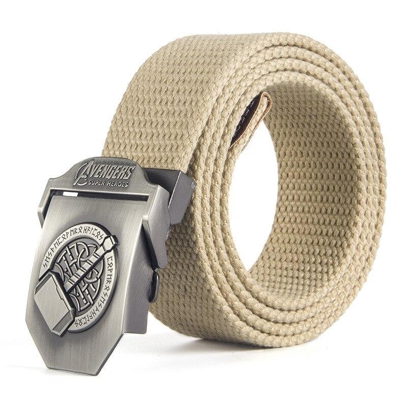 Casual Canvas Belt Men's Fashion Style Army SWAT Metal Buckle Canvas Strap Belt Adult Waist Belt Belt Buckles For Men