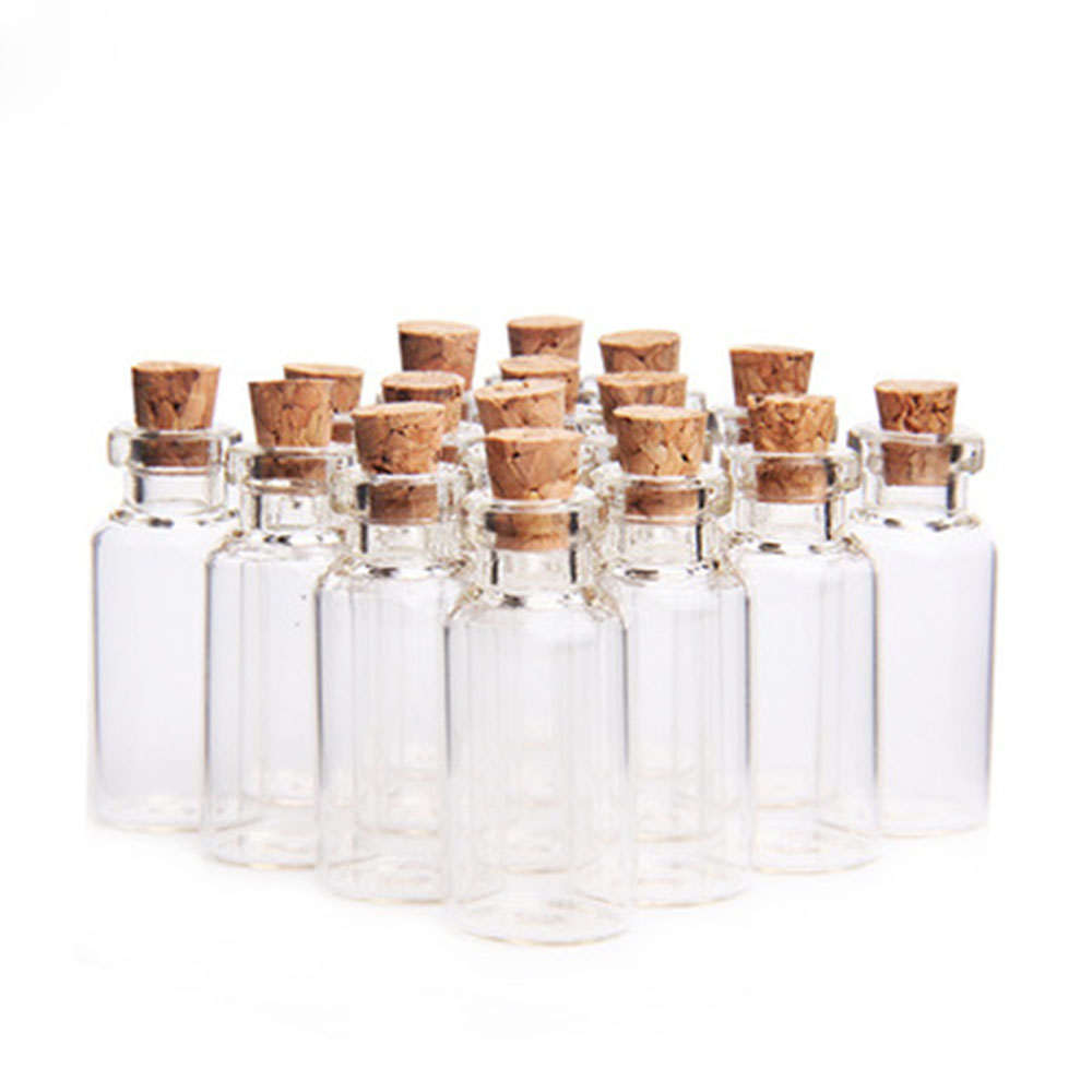 10 adet 1ml/3ml/20ml noel dilek şişeleri küçük boş şeffaf mantar cam şişeler şişeler tatil için düğün ev dekorasyon hediyeler