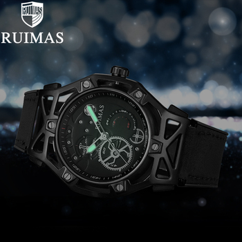 Ruimas Black Designer Luminous Leather RL534G
