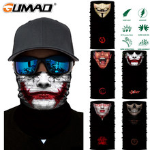 3D Joker Seamless Magic Neck Gaiter Face Shield Cycling Fishing Bike Ski Camping Bandana Halloween Headband Scarf Men Women Mask(China)