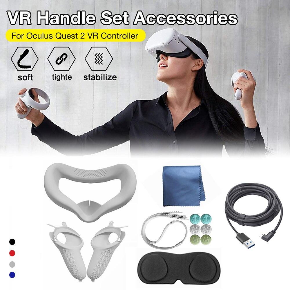 12 шт./компл. шлем глаз маска для лица для Oculus Quest 2 Очки виртуальной реальности VR очки гарнитура Поддержка для Quest2 виртуальной реальности аксе...