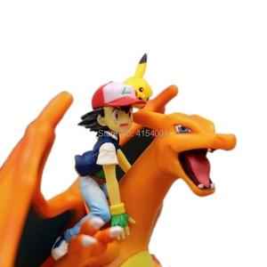 Image 5 - אנימה Charizard אפר Ketchum PVC פעולה איור אנימה צעצוע 160cm משחק Charizard Ketchum צלמית אסיפה צעצועי דיורמה