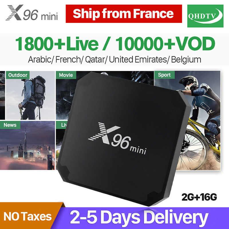 X96 Mini France IPTV arabe QHDTV 1 an IPTV Android 7.1 2 + 16G tunisie algérie belgique pays-bas français IPTV abonnement Box