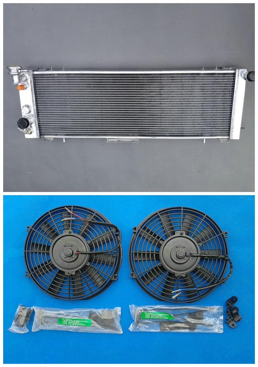 3 Row Aluminum Radiator For Jeep Cherokee XJ 4.0L 6 Cylinder MT 91-01 off  Road