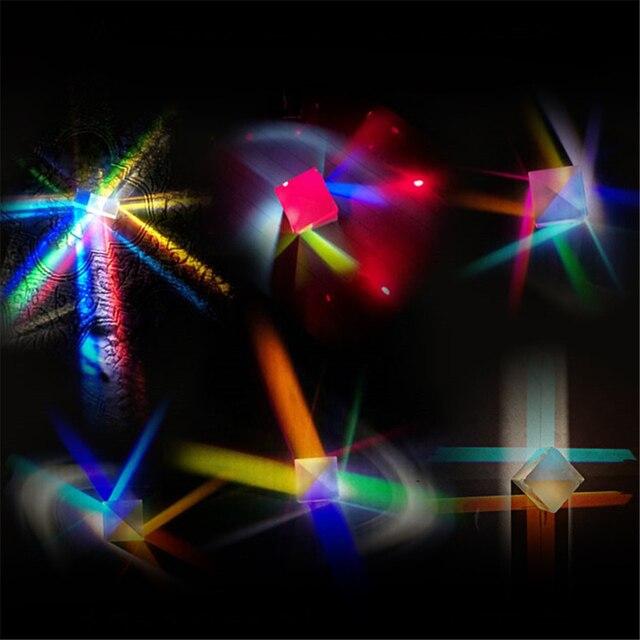 шестисторонняя яркая призма сочетает в себе искусственное стекло фотография