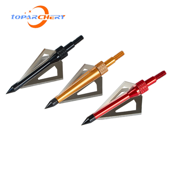 12pcs Arrow Broadheads for Crossbow Longbow Hunting Target Shooting Accessories 100GR 3 Blades Replaceable Silver Arrowhead Tips 2