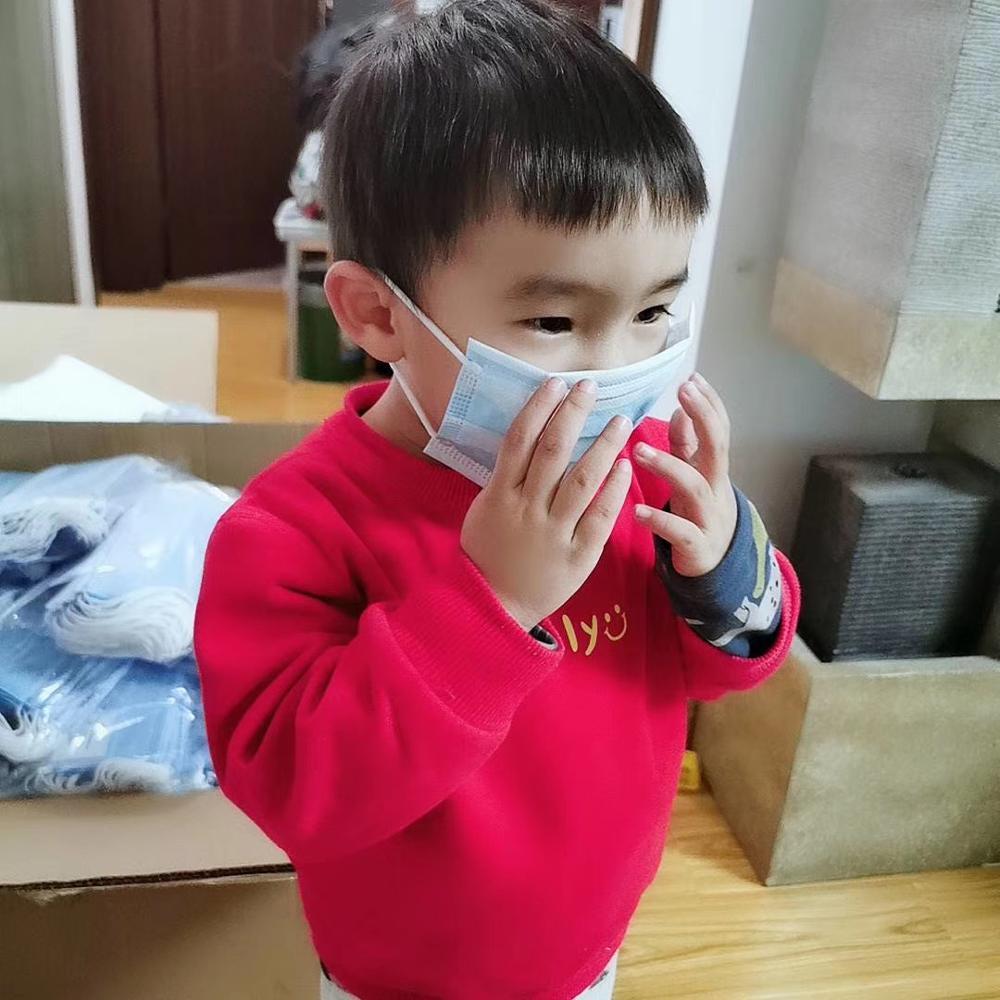 Profession Child Kids Mask 100Pcs/Pack 3-Ply PM2.5 N95 Nonwoven Disposable Breathable Children Face Mascherine Ffp2 Flu Medical
