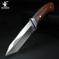 Faca de lâmina fixa faca ao ar livre caça selvagem sobrevivência faca reta sobrevivência deserto faca de auto-defesa faca tática