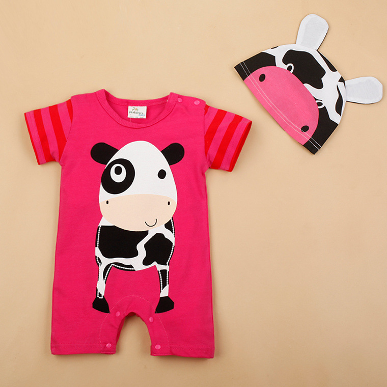 H30be7f62dda94826864ce2e2cd06f62c3 Newborn baby cotton rompers lovely Rabbit ears baby boy girls short sleeve baby costume Jumpsuits Roupas Bebes Infant Clothes