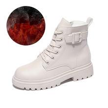 Женские зимние плюшевые теплые ботинки 2021 Нескользящие Ботинки