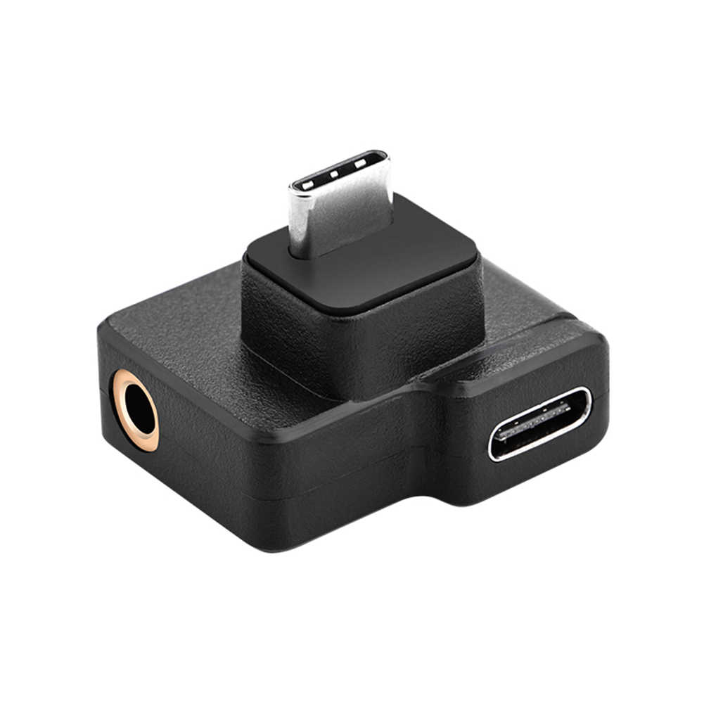 Vodool Usb C Audio Adapter Type C Man-vrouw + 3.5 Mm Externe Microfoon Jack Voor Dji Osmo Action video Camera Accessoires
