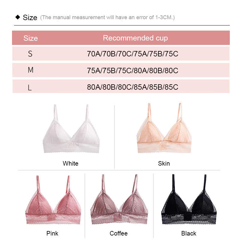 Thin Bahasa Perancis Gaya Renda Bralette Nirkabel Empuk Wanita Pakaian Dalam Wanita Lembut Bra Underwear Seamless Deep V Gadis Bralett Pakaian Wanita