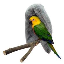 Гамак для птицы ветрозащитный ворсовой попугай подвесная пещера