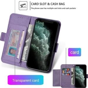Image 2 - حافظة هاتف جلدية مع حامل بطاقات مغناطيسي لهاتف iPhone ، موديلات متوافقة 6 s ، 7 ، 8 Plus ، SE 2020 ، 11 Pro ، X ، XS Max ، XR ، 12 Mini