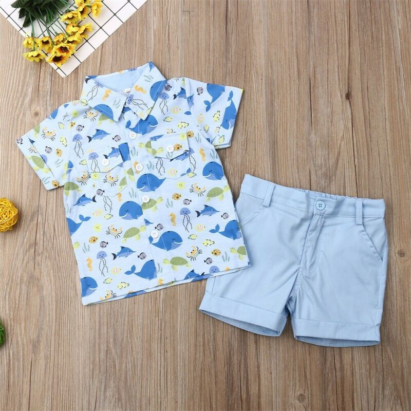 UK Toddler Kids Baby Girls Flowers Top Shorts Pants Clothes Outfits Summer Canis