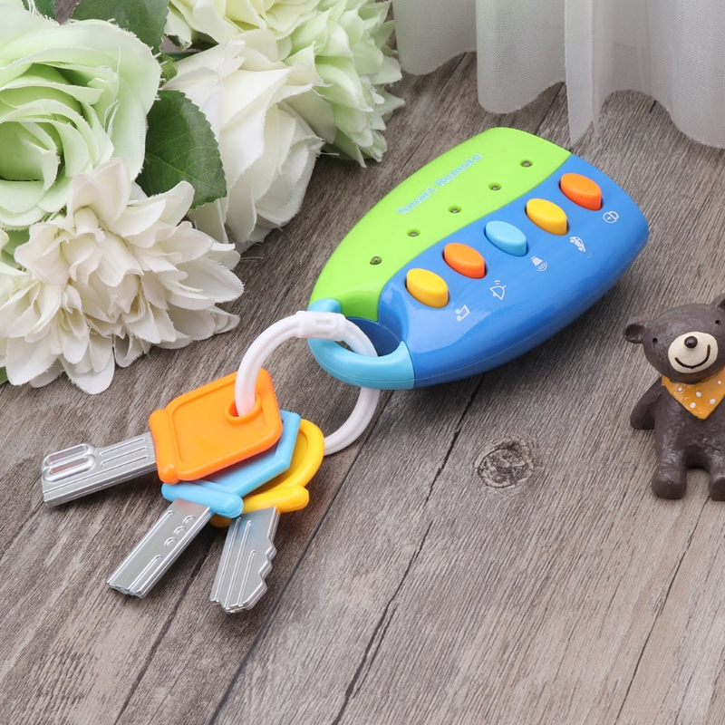 Baby Toy Musical Car Key Toy Smart Remote Car Voices Pretend Play Education Toy 57BF