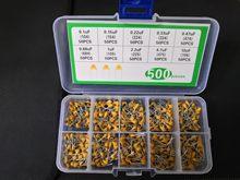 Caixa 500pc kit Capacitor Monolítico 1 10 Valor 104 105 106 154 223 334 474 684 225 475/10 4.7 2.2 0.68 0.47 0.33 0.22 0.15 0.1 UF