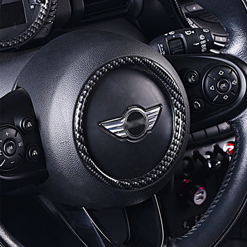 Steering wheel decoration car sticker For MINI COOPER S F54 F55 F56 F57 F60 car Modification Automotive interior accessories