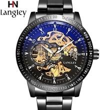 2018 Klassieke Horloges Mannen Top Luxe Merk Hoge Kwaliteit Skeleton Horloge Automatische Mechanische 3 ATM Water Resistant Horloge mannelijke