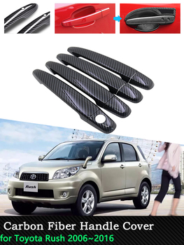 Car Carbon Fiber Door Handle Cover for Toyota Rush 2006 2007 2008 2009 2010 2011 2012 2013 2016 Exterior Accessories Stickers image