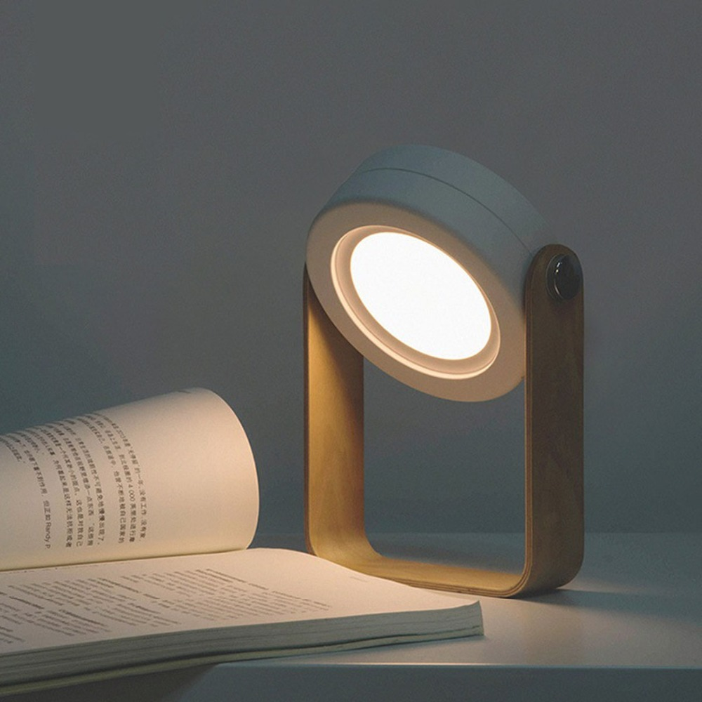 NEWKBO Foldable Touch Dimmable Reading LED Night Light Portable USB Rechargeable  Lamp For Children Bedside Bedroom Lamp