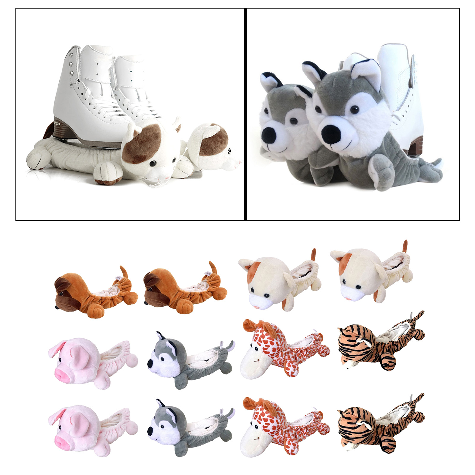 Ice Figure Skating Soaker Blade Blankie Animal Ice Skates Blades Anti-Rust Chipping Covers Protection for Kids Children