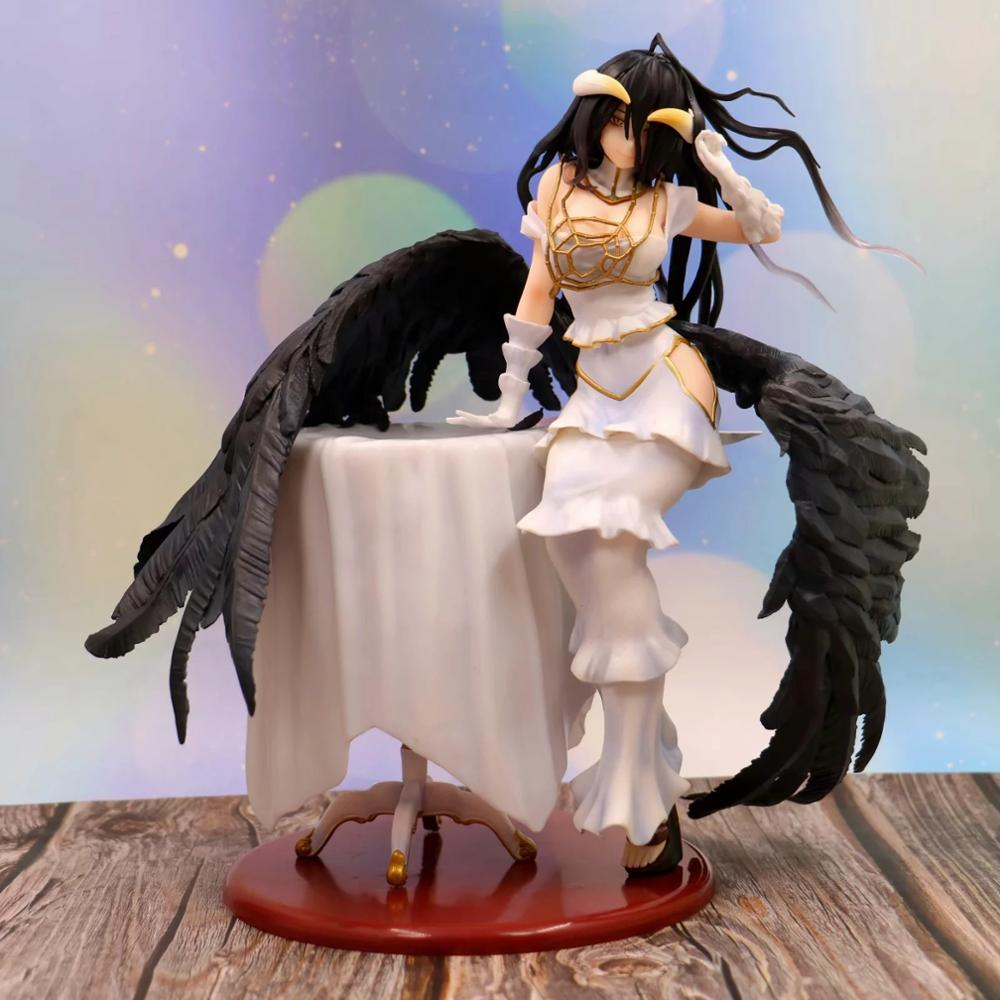 Anime 28cm albedo <font><b>Sexy</b></font> <font><b>girls</b></font> 1/7 scale painted PVC adult Action Figures Toy For Christmas Model Gift image