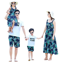 Mommy And Me Clothes Mother Son Outfits Summer Family Look Dad Son T Shirt+Shorts 2pcs Clothing Sets