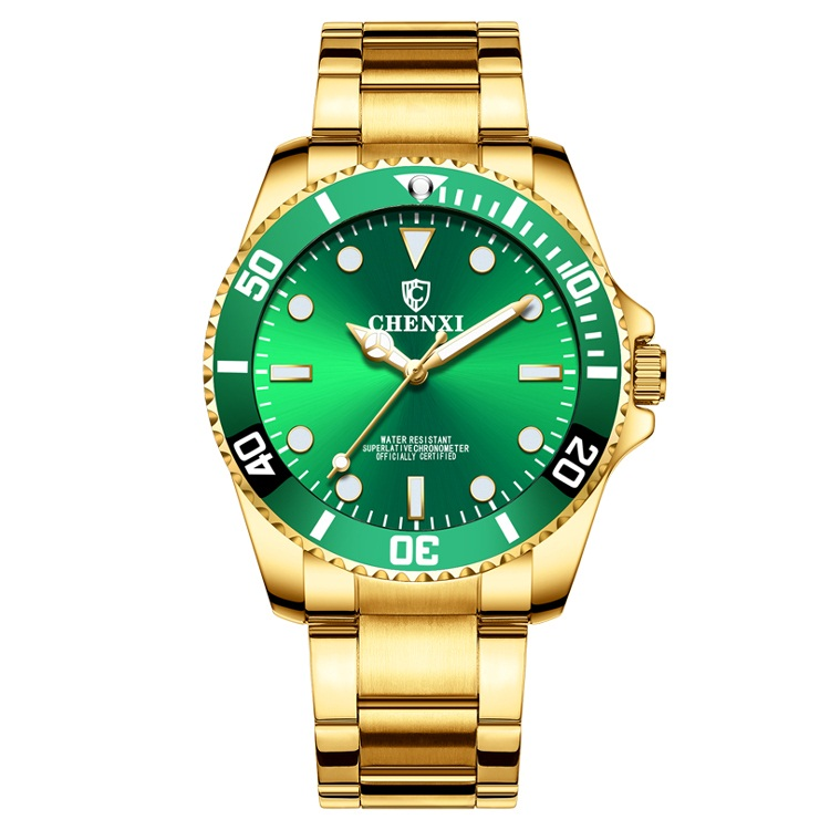 Fashion Men Watches Luxury Brand CHENXI Watch Stainless Steel Men's Watches Gold Watches Men Green Wach Horloge Heren