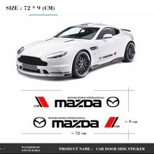 Pegatinas laterales para puerta de coche, calcomanías de cuerpo con estilo, rayas largas para Mazda Axela 2 3 MS 6 CX-5 CX-4 CX3 CX5 Axela demio C, 2 uds.