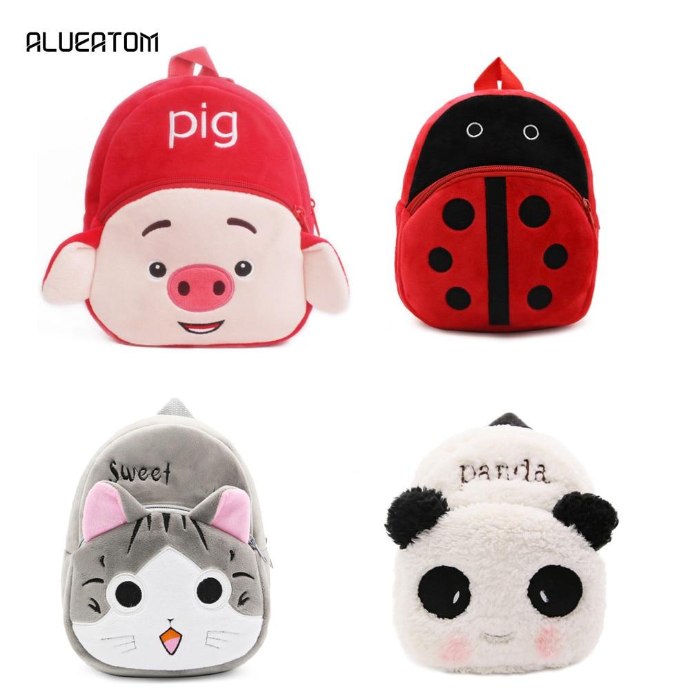 Kindergarten Children Cartoon School Bags 2019 Pig Cat Kids Backpack Schoolbags Satchel For Boys And Girls